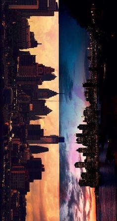 City lights-half side of looking at City Wallpaper, Cute Wallpaper Backgrounds, Tumblr Wallpaper, Wallpaper Iphone Cute, Pretty Wallpapers, Iphone Wallpapers, City Photography, Nature Photography, Yuumei Art
