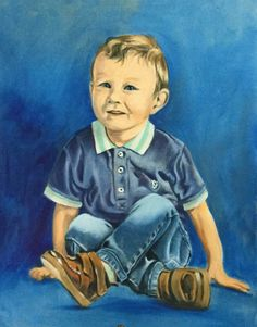 """""""Portrait of Finley"""" - Oil on Canvas - 45 x 61cm ©Copyright Protected"""