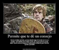 Peter Dinklage as Tyrion Lannister in Game of Thrones. Game Of Thrones Images, Game Of Thrones Quotes, Spanish Jokes, Got Characters, Game Of Trones, George Rr Martin, Jaime Lannister, Fantasy Fiction, Valar Morghulis