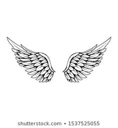 Angle Wing Tattoos, Wing Neck Tattoo, Small Wing Tattoos, Wing Tattoos On Back, Back Of Neck Tattoo, Angle Tattoo For Men, Cute Tattoos, Body Art Tattoos, Sleeve Tattoos