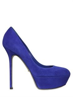SERGIO ROSSI - 140MM UPTOWN SUEDE PUMPS - LUISAVIAROMA - LUXURY SHOPPING WORLDWIDE SHIPPING - FLORENCE