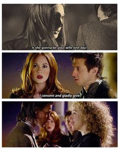 Happy anniversary to the Doctor and River!!!