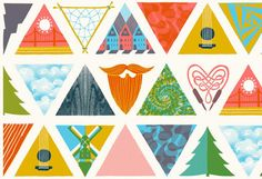 RedK inspo 2013. paper & string. triangle. Kite. craft. playful. fold.