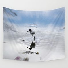 Ibis Wall Tapestry by crismanart Wall Tapestries, Tapestry, Wall Hangings, Outdoor Walls, Indoor Outdoor, Vivid Colors, Favorite Color, Picnic Blanket, Centerpieces