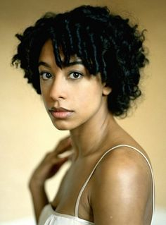 Beautiful coily hairstyle for African American women