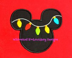 Applique Mouse with String of Lights by WhimsicalEmbroidery, $4.00