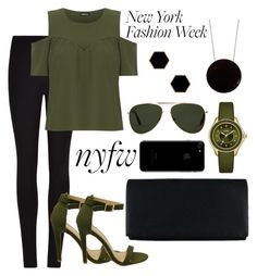 """""""green style"""" by kamamursalova ❤ liked on Polyvore featuring Winser London, WearAll, Michele, Oliver Goldsmith, Sportmax, Janna Conner Designs, StreetStyle and NYFW"""