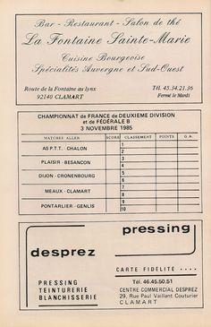 Calendrier 1985-1986 - 2ème Division - Page 14