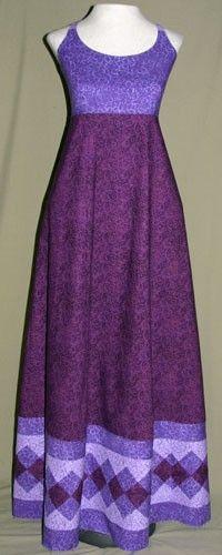 Purple Seminole Patchwork Dress