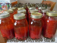 Talented Terrace Girls: canning tomatoes