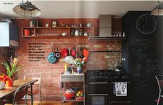 Creative Brick Wall Kitchen Design Ideas   Amazing Interior Design