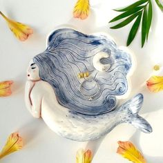 Mermaid clay dish #PotteryClasses