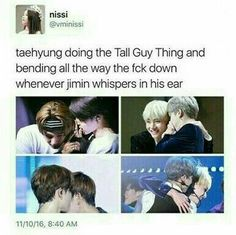 I related to this cause im like super short and got tall friends and fam members so not just that they bend down im also like standing on the tips on my toes .... why am i like this ;-; *it'll probably make jimin happy tho xD*