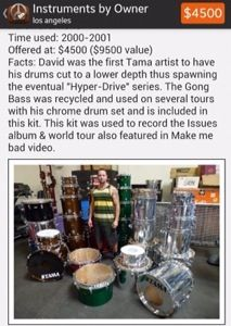 Former Korn Drummer David Silveria Is Selling His Drumsets