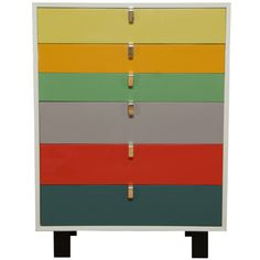 DIY rainbow drawer inspo: 1stdibs | George Nelson Chest of Drawers by Herman Miller