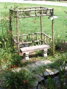 Recycled Cedar Trees for Simple Pergolas « Diana Digs Dirt