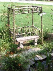 Recycled Cedar Trees for Simple Pergolas « Diana Digs Dirt