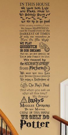 Harry Potter inspired In This House CUSTOMIZABLE Vinyl por JobstCo