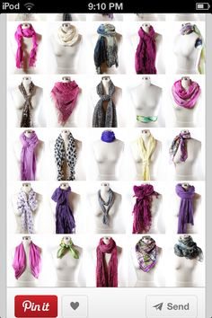 way to tie your scarf