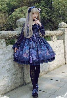 Goldfish & Fireworks Lolita OP Dress