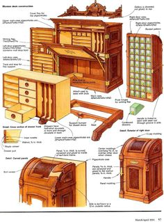 Unusual Vintage Furniture Designs The Super-Organizing Wooton Desk &; Unusual Vintage Furniture Designs The Super-Organizing Wooton Desk &; Alexander Mock alexanderseehau Möbel Here&;s a photo of the ticket […] furniture Awesome Woodworking Ideas, Best Woodworking Tools, Woodworking Workshop, Woodworking Techniques, Woodworking Furniture, Furniture Plans, Woodworking Crafts, Furniture Makeover, Diy Furniture