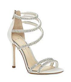 Jessica Simpson Jeena Organza Flower Ankle Strap Dress Sandals 1FciZ