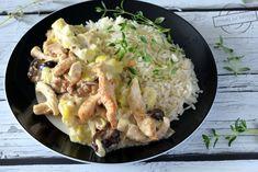 Filet z kurczaka w sosie porowym – Smaki na talerzu Grains, Rice, Meat, Chicken, Food, Essen, Meals, Seeds, Yemek