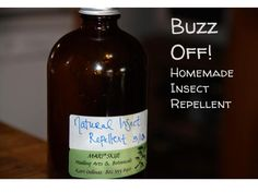 Natural and Organic Insect Repellent (with essential oils)