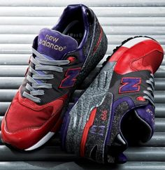 New Balance 999 Feral Creation: Grey/Purple/Red (Singapore inspired design by Leftfoot)