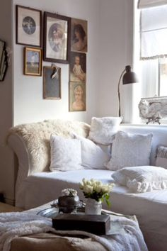 "This soft and cosy living room is from our feature ""Go with the Flow"""
