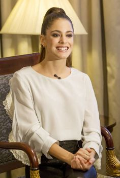 Martina Stoessel poses at Hotel Palace The Argentinian actress and singer presents her european tour Got me started tour on March 2 2017 in Madrid...