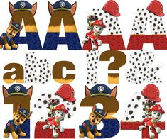 Paw Patrol Alphabet - Chase & Marshall