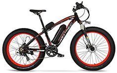 Cyrusher® Extrbici XF660 48V 500 vatios negro rojo Mens bicicleta eléctrica Mountain Bike 7 velocidades bicicleta eléctrica frenos de disco hidráulicos Bicycle, Vehicles, Electric Bicycle, Bicycles, Red Black, Bike, Bicycle Kick, Cars, Vehicle