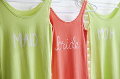 DIY   bleach t-shirts » Something Turquoise {daily bridal inspiration}