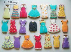 Art & Honey:  wardrobe of dress cookies