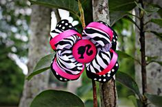 56 inch Adorable Barbie Zebra boutique bow by charminglanedesigns, $10.00