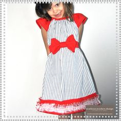 Red White and Blue  Baseball Betty Dress  by MarKoosModernDesign, $38.50