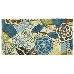 Cloud Step™ Blue Floral Memory Foam Rugs. $93. Pier 1. FOr kitchen sink.