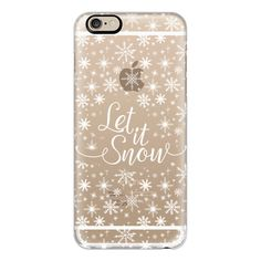 iPhone 6 Plus/6/5/5s/5c Case - Let it snow ($40) ❤ liked on Polyvore featuring accessories, tech accessories, phones, phone cases, cases, iphone, iphone cases, iphone cover case, iphone case and apple iphone cases