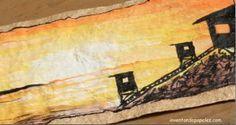 acrílico pintado en papel de fibra