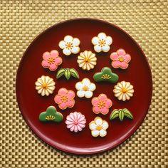 Japanese Cake, Japanese Sweets, Japanese Food, Cute Cookies, Cupcake Cookies, Sugar Cookies, Chinese New Year Cookies, Asian Desserts, Food Decoration