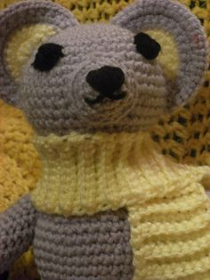 Lavender the Mouse by YarnToAfghan on Etsy