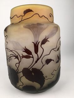 Gallé Cameo Glass Vase.