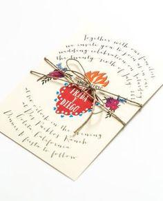 Invitaciones de la boda de destino - Frida Kahlo inspiraron verano - corazón Sagrado Corazon mexicano-invitación de la boda (Suite de Frida)