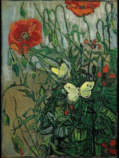 Van Gogh - Butterflies and Poppies