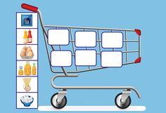 (2015-07) Supermarked, vogn #1. Kuvia ruoka-aineista https://fi.pinterest.com/Gloria1257/aliments/