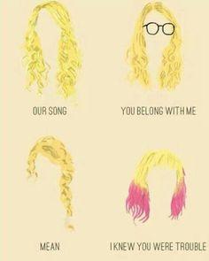 Taylor swift music videos hair styles