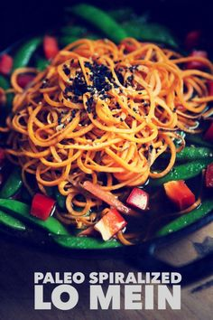 Paleo Lo Mein with spiralized noodles. (Gluten/Grain/Dairy Free) http://sulia.com/my_thoughts/cc9a6ad90dd5bd595bd15c5b150bb67d/?source=pin&action=share&btn=big&form_factor=desktop