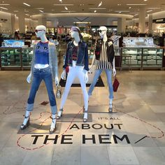 """SAKS FIFTH AVENUE, Long Island, New York, """"All about the hem✂️"""", pinned by Ton van der Veer"""