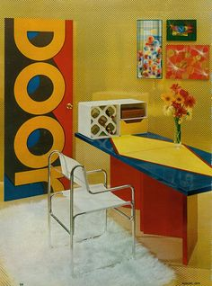 door. desk. colors. | 1974